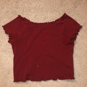 COPY - burnt red cropped top
